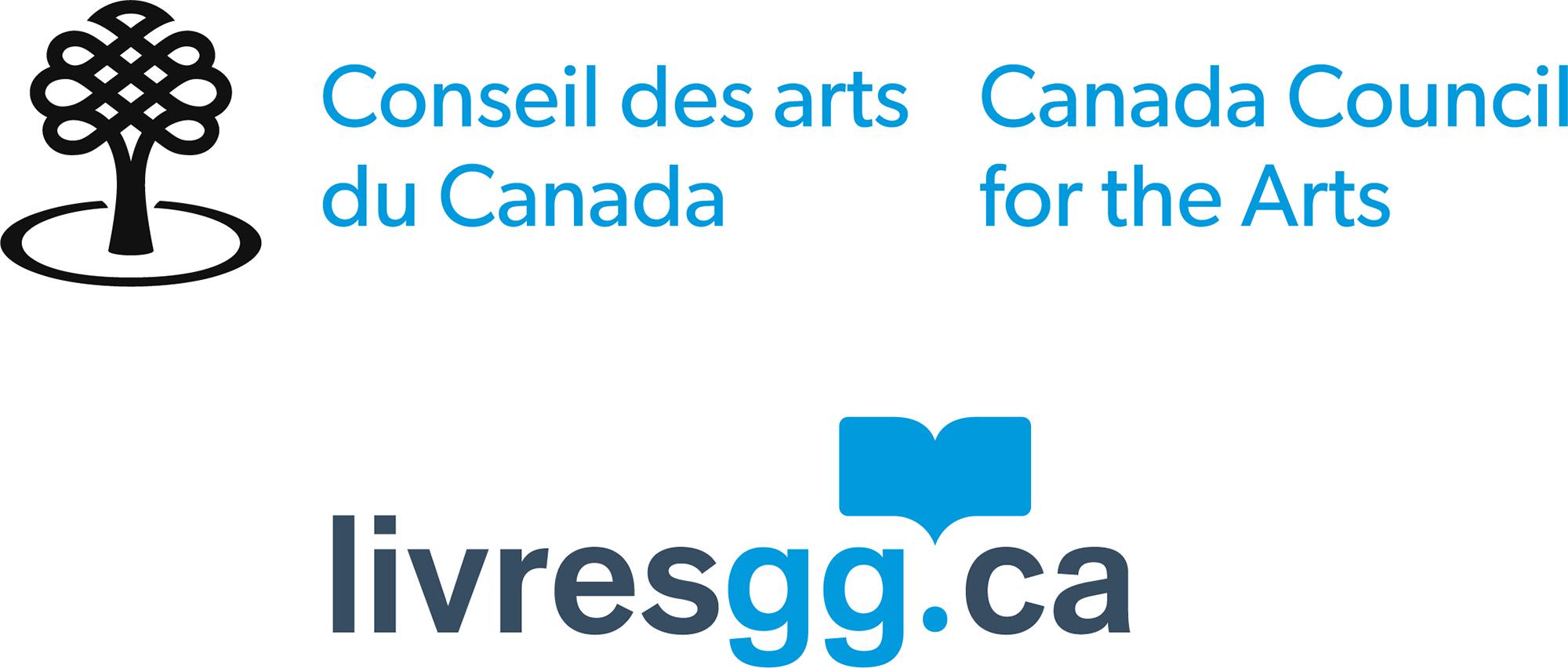 Canada Council for the Arts logo for livresgg.ca