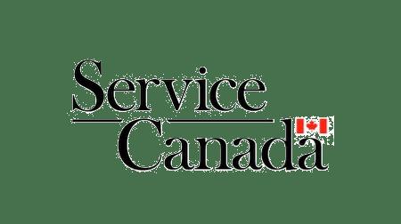 Service Canada logo with Canada flag
