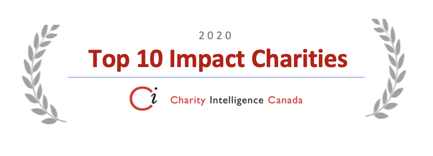 Charity Intelligence Canada logo for Top 10 Impact Charities 2020