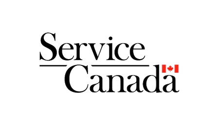 Service Canada logo with Canadian flag